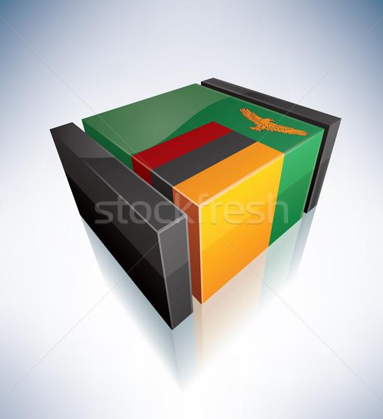 3D флаг Замбия Африка республика флагами Сток-фото © Vectorminator