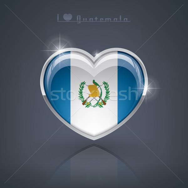 Гватемала формы сердца флагами республика сердце Сток-фото © Vectorminator