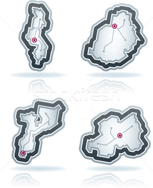Simple Country Icons Stock photo © Vectorminator