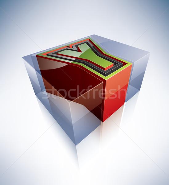 Stock photo: 3D alphabet: Capital letter Y