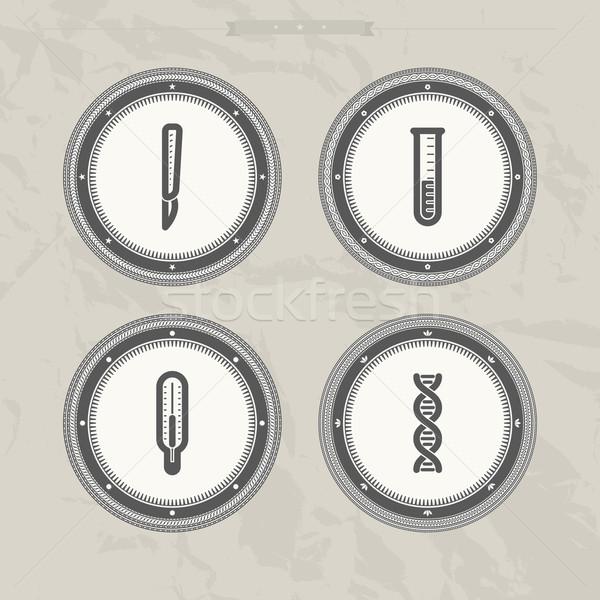 医療 病院 アイコン 外科用メス 計 ストックフォト © Vectorminator