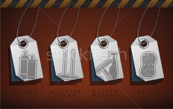 Czyszczenia urządzenia przybory biały Zdjęcia stock © Vectorminator