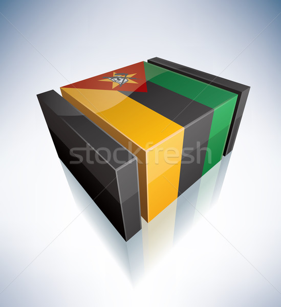 3D flag of Mozambique Stock photo © Vectorminator