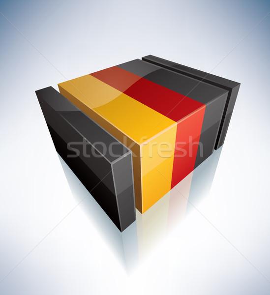 3D bayrak Almanya bayraklar Avrupa federal Stok fotoğraf © Vectorminator