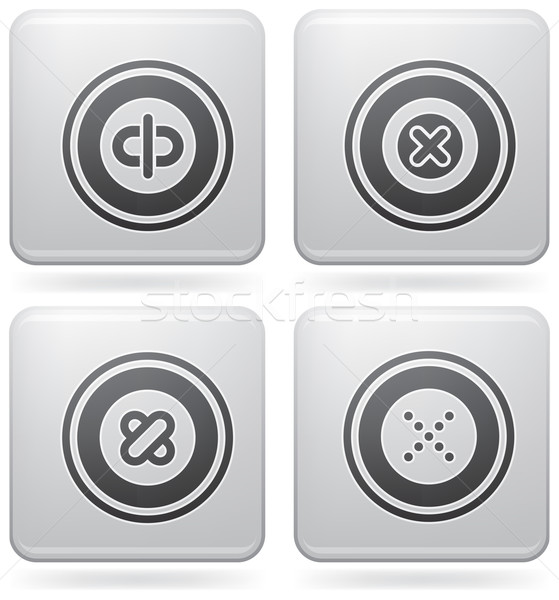 Platina iconen bos abstract web icons algemeen Stockfoto © Vectorminator