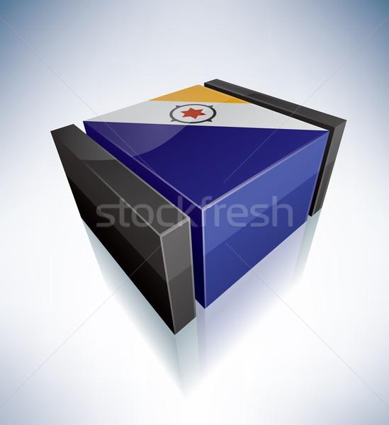 3D flag of Bonaire Stock photo © Vectorminator