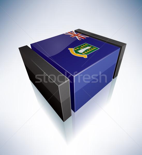 3D флаг Виргинские о-ва флагами Карибы британский Сток-фото © Vectorminator