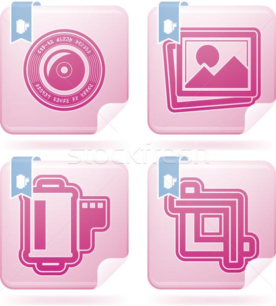 Stock fotó: Fotózás · ikon · szett · szerszámok · felszerlés · itt · helyes
