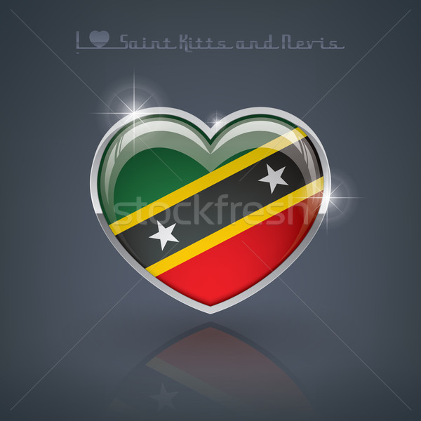 Saint Kitts and Nevis Stock photo © Vectorminator