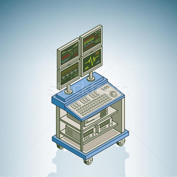 Jednostka szpitala sprzętu izometryczny 3D Zdjęcia stock © Vectorminator