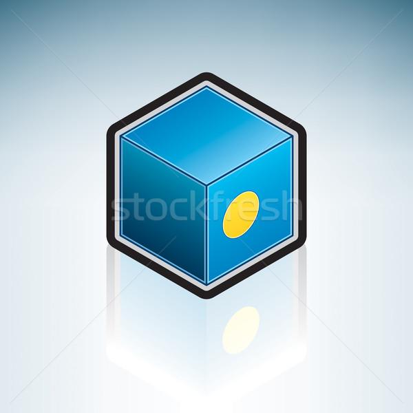 Палау Океания флаг республика 3D изометрический Сток-фото © Vectorminator