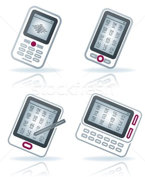 Сток-фото: служба · поставлять · синий · красный · мобильного · телефона
