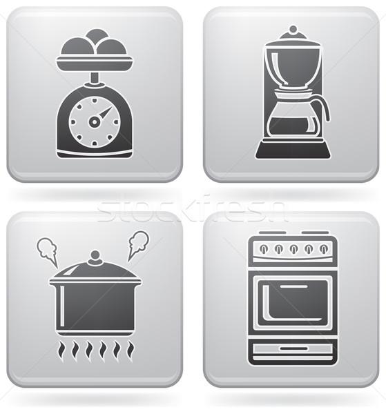 Сток-фото: кухне · повседневный · инструменты · платина · квадратный