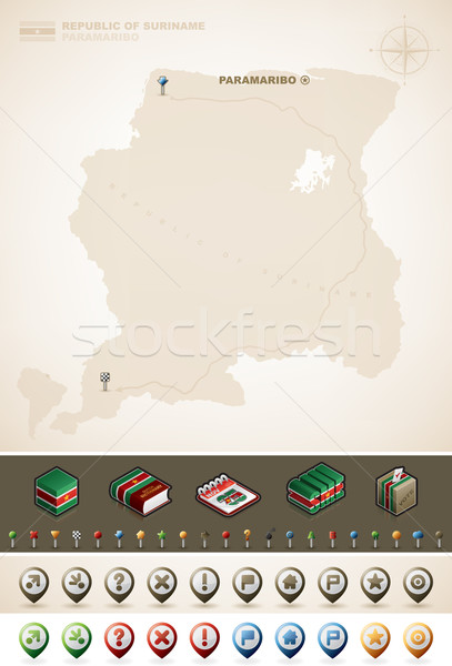 Republic of Suriname Stock photo © Vectorminator