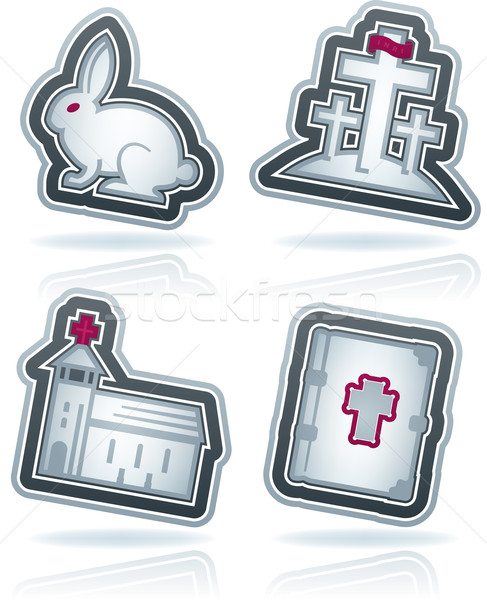 Pasqua icone simboli christian top Foto d'archivio © Vectorminator
