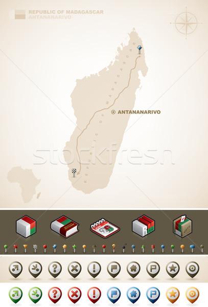 Madagascar république Afrique cartes supplémentaire Photo stock © Vectorminator