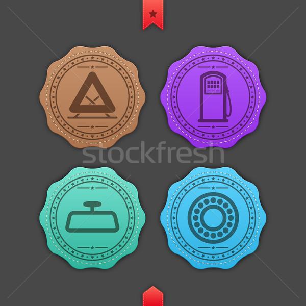 автомобилей право предупреждение треугольник Сток-фото © Vectorminator