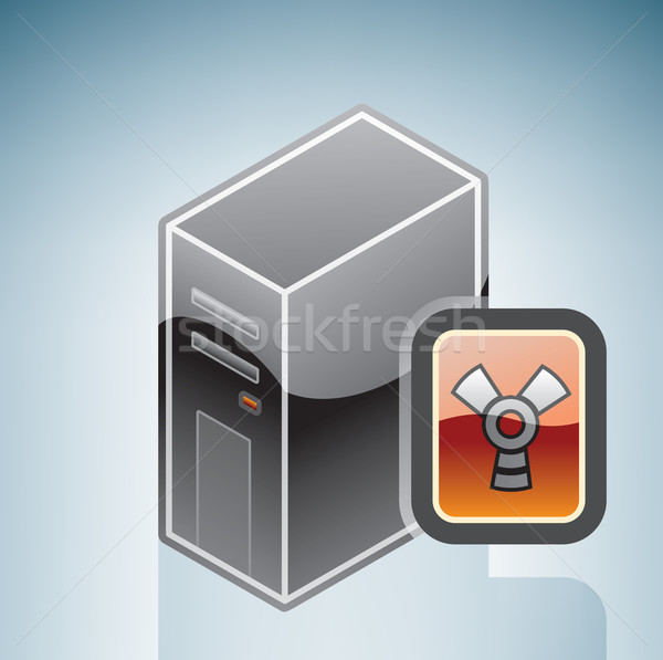Computer FireWire disk drive Stock photo © Vectorminator