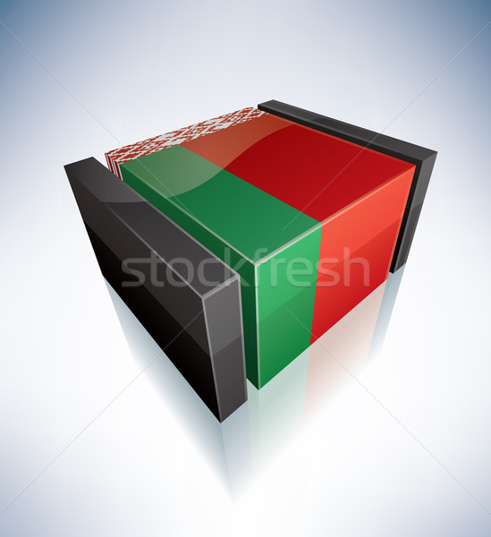 3D flag of Belarus Stock photo © Vectorminator