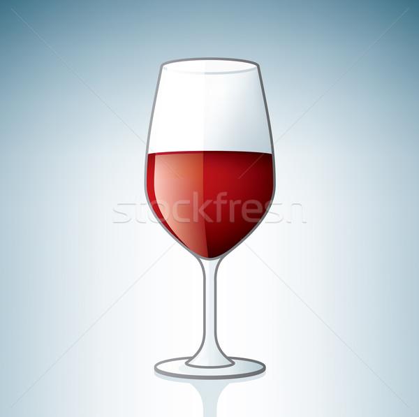 Сток-фото: стекла · алкоголя · вино · синий