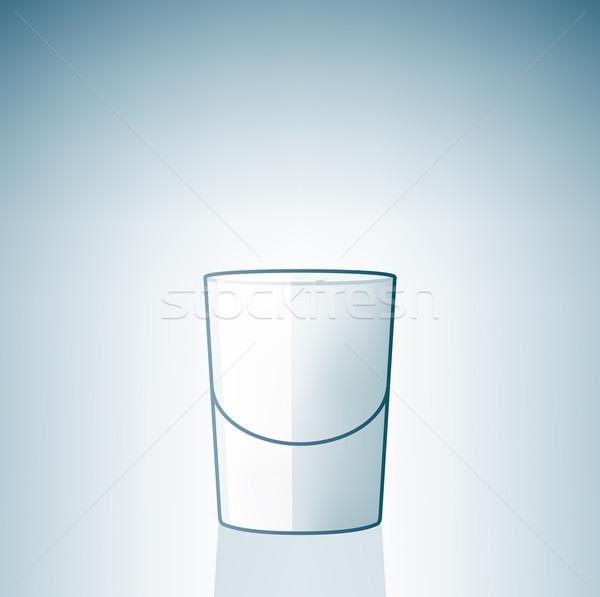 Pusty wódki szkła alkoholu pić Zdjęcia stock © Vectorminator