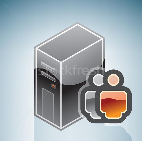 Rete di serie utente isometrica 3D computer Foto d'archivio © Vectorminator
