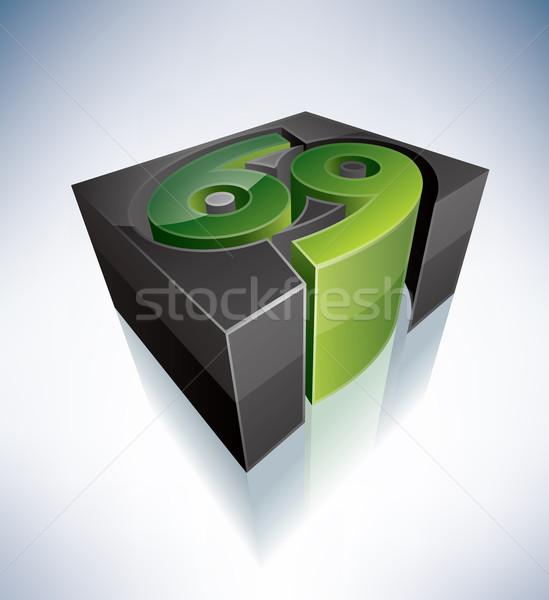 3D зодиак знак рак символ алфавит Сток-фото © Vectorminator