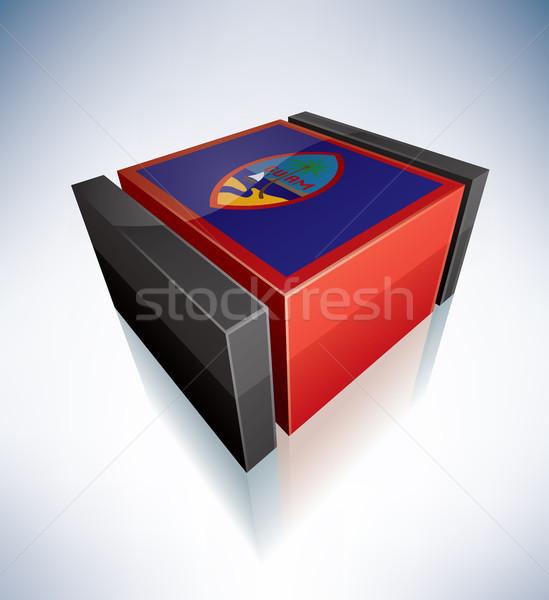 3D flag of Guam Stock photo © Vectorminator