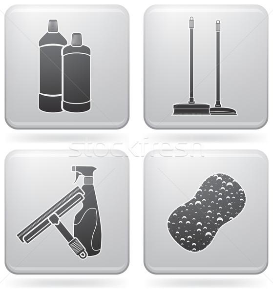 Temizlik fırçalamak kimyasallar eldiven Stok fotoğraf © Vectorminator