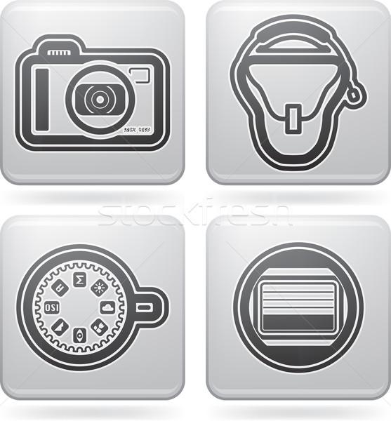 Fotoğrafçılık araçları burada doğru Stok fotoğraf © Vectorminator