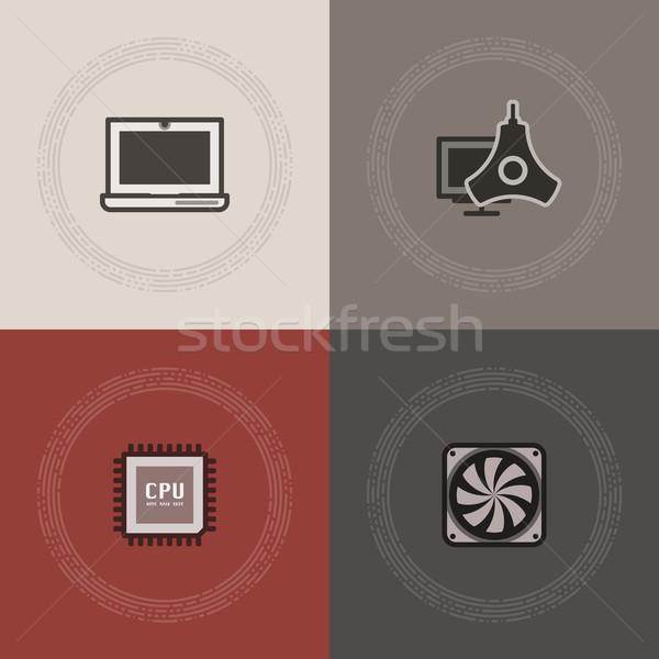 Computer onderdelen hier laptop Stockfoto © Vectorminator