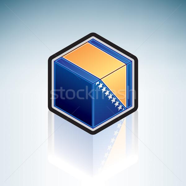 Bosnia Herzegovina Europa bandera 3D estilo Foto stock © Vectorminator