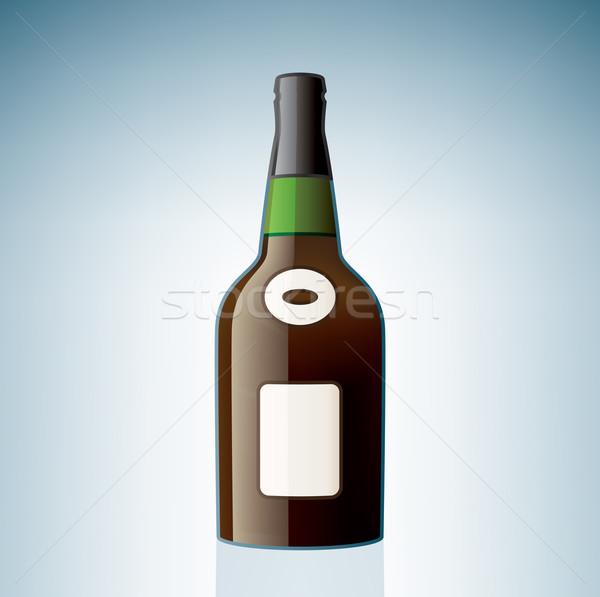 Cognac bouteille alcool verre boire Photo stock © Vectorminator
