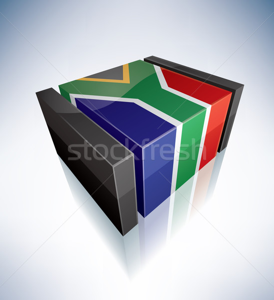 3D flag of South Africa Stock photo © Vectorminator