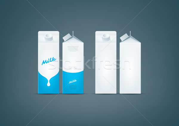 Carton box milk mock-up Stock photo © Vectorminator