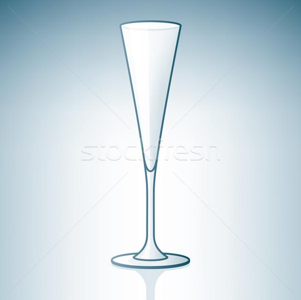 Stock photo: Empty Champaign / Sparkling Wine Glass
