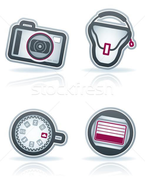 Photography Icons Set Stock photo © Vectorminator