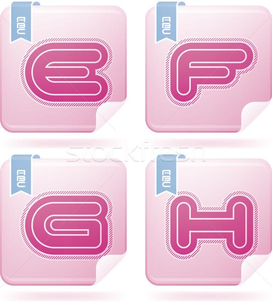 письма современных фламинго Сток-фото © Vectorminator
