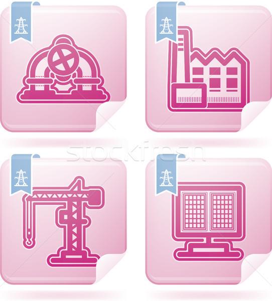Zdjęcia stock: Przemysłu · ikona · ciężki · symbolika · górę