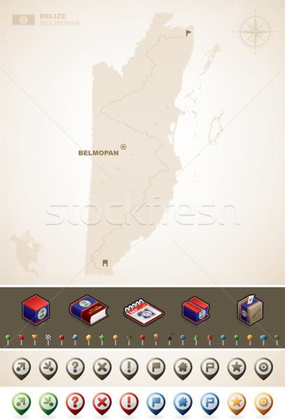 Belize észak Amerika térképek meg térképészet Stock fotó © Vectorminator