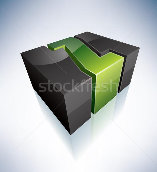 письме 3D зеленый логотип алфавит Сток-фото © Vectorminator