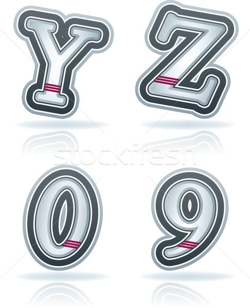 письма нуля синий вектора Сток-фото © Vectorminator