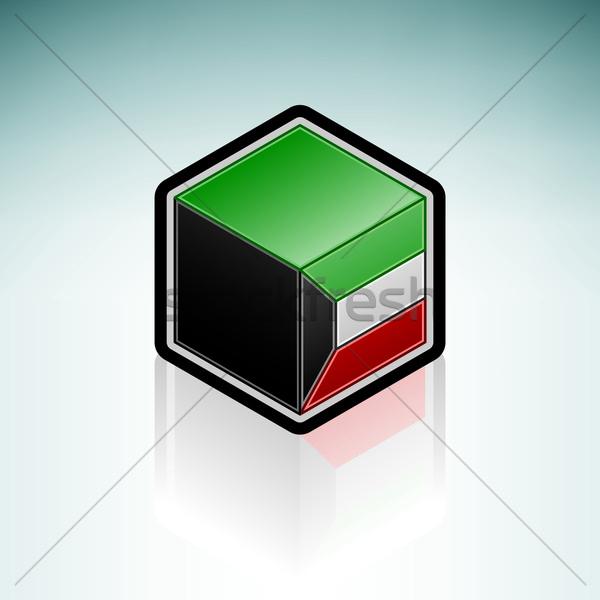 State of Kuwait { Asia } Stock photo © Vectorminator