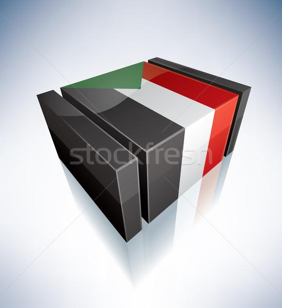 3D flag of Sudan Stock photo © Vectorminator