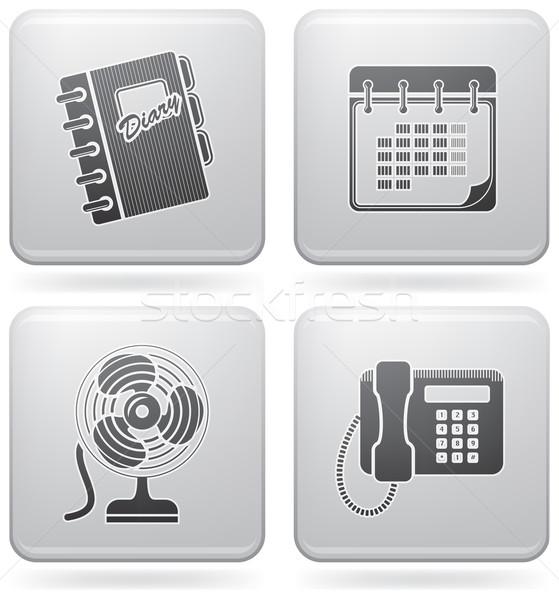 Сток-фото: веб · набор · служба · иконки · платина
