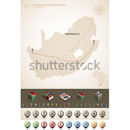 República Irán Asia mapas Foto stock © Vectorminator