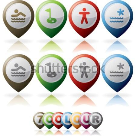 Indústria ícones pesado aqui direito Foto stock © Vectorminator