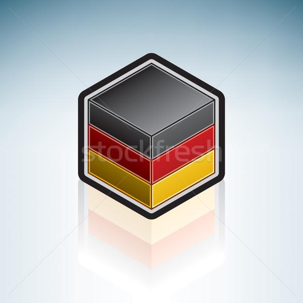 Германия Европа флаг федеральный республика 3D Сток-фото © Vectorminator