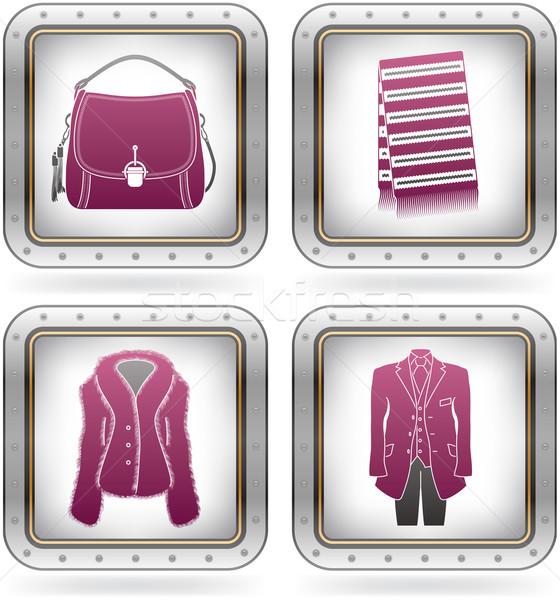 Moda różny kemping ikona ciepły w górę Zdjęcia stock © Vectorminator