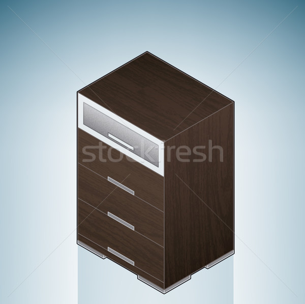 Furniture: Bedroom Chest of Drawers with Glass Stock photo © Vectorminator